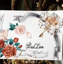 效果不错的水彩封面手绘教程图片 可以做贺卡卡片封面