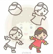 很简单的一组简笔画人物画教程图片 适合小朋友和新人练手画人物简笔画
