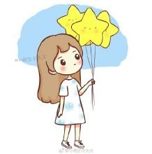 手里拿着气球的长发气质女生简笔画教程 拿气球的女神简笔画画法