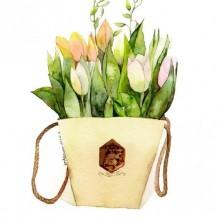 包装好的郁金香水彩画图片 郁金香水彩手绘教程 郁金香怎么画 画法