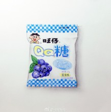 旺仔QQ糖彩铅画图片 旺仔QQ糖彩铅手绘教程图片 旺仔QQ糖怎么画 画法