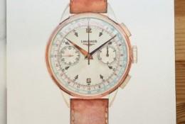 手表水彩画图片 手表水彩画作品 皮革浪琴手表水彩画画法
