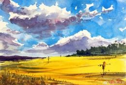 以天空为主的风景水彩画图片 天空风景水彩手绘教程图片 画法 怎么画