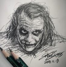 经典反派蝙蝠侠小丑手绘教程合辑图片 小丑的简笔画/彩铅/水彩