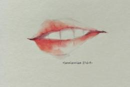 各种性感嘴唇水彩画图片 女性性感红唇水彩手绘教程 女生嘴唇画法