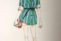 时尚现代女性马克笔时装快速表现手绘教程图片