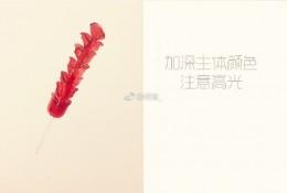 热狗串/五花肉串/面筋串烧烤串水彩手绘教程图片 画法步骤