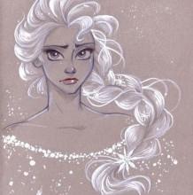 好看的迪士尼公主彩铅图片 迪士尼公主彩铅手绘作品 迪士尼公主彩铅怎么画画
