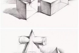简单基础的结构素描作品图片 适合素描新手练习结构