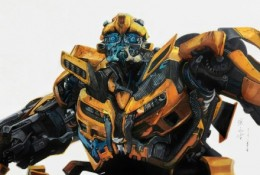 变形金刚大黄蜂彩铅手绘专辑图片 大黄蜂彩铅+马克笔手绘教程 大黄蜂怎么画