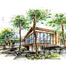 建筑景观室内马克笔效果图表现图片 谢国威手绘