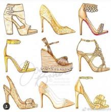 近百款高跟鞋手绘作品图片 满足你对高跟鞋的所有幻想 高跟鞋怎么画 画法