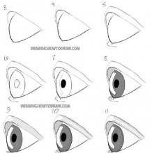 动漫插画中侧面最基本的眼睛画法 漫画侧面眼睛怎么画