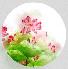 夏日荷花荷叶唯美水彩画图片 超美有意境的荷塘美景水彩手绘专辑