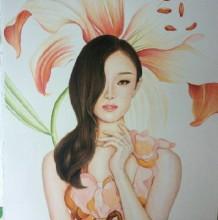 明星倪妮彩铅画图片 倪妮彩铅手绘教程 倪妮彩铅画怎么画 倪妮的画法
