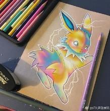 可爱的精灵宝可梦彩铅画图片 精灵宝可梦彩铅手绘教程 精灵宝可梦怎么画画法