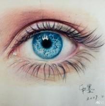 超棒的彩铅眼睛手绘专辑 逼真彩铅眼睛怎么画 眼睛的彩铅画法
