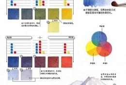 日本绘画大师铃木辉实的水彩画配色笔记