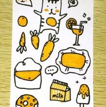 简单的马克笔简笔画手绘图片 新手练习 手账素材图案