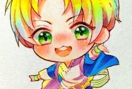 Q版可爱小男孩马克笔插画手绘教程图片步骤 可爱男生Q版插画画法