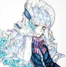 洛丽塔风少女插画手绘教程 马克笔上色步骤过程画法