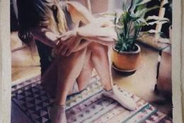 表现女性身体美感的水彩画作品图片 唯美女性肢体水彩画