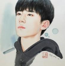 明星TFBOYS手绘专辑 易烊千玺、王俊凯、王源彩铅水彩画系列图片教程