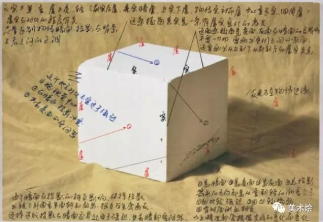 素描基础 正方体素描怎么画 正方体素描的画法 正方体