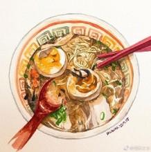 可口美食水彩专辑 美食,甜品,饮料小吃水彩画画法 美食水彩教程图片