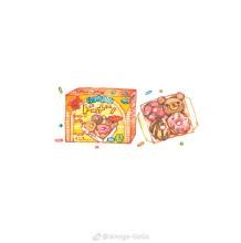 零食水彩专辑 零食怎么画 零食的画法 零食水彩手绘教程