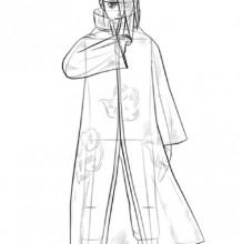 火影忍者人物插画线稿画法教程图片 人物结构步骤演示