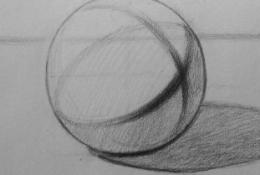 素描圆球体怎么画 圆球体的画法 新手画圆球体素描结构画
