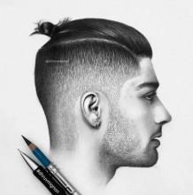 男士发型素描黑白手绘图片素材 2017男生帅酷发型案例示例图片