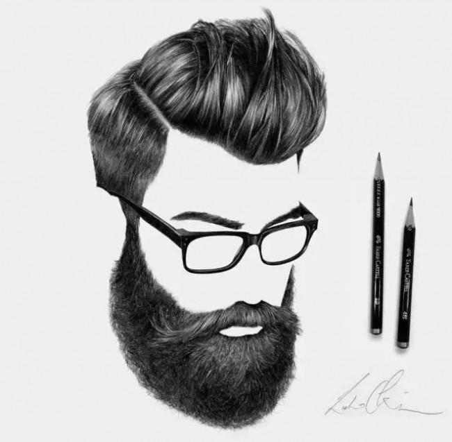 男士发型素描黑白手绘图片素材 2017男生帅酷发型案例