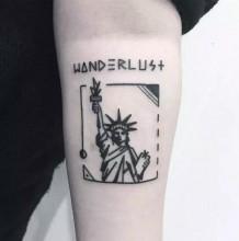 是插画也是纹身 有趣的小清新艺术系轻纹身系列 女生大爱