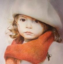 可爱的国外小女生彩铅手绘教程图片 可爱国外女孩子彩铅怎么画 画法