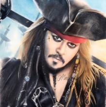 加勒比海盗杰克船长彩铅画图片 杰克船彩铅长手绘教程怎么画 画法
