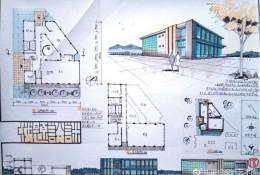 马克笔建筑效果图 平面布置图 立面图 建筑外观效果图