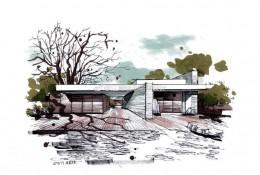 现代简约建筑马克笔效果图手绘教程图片 带步骤和实景照片对比