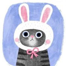 非常可爱的唯美猫咪插画作品