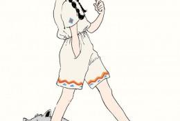 充满活力和小清新的二次元女生插画 有你的影子吗?