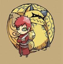 火影忍者9位人柱力以及他们的尾兽超萌插画图片