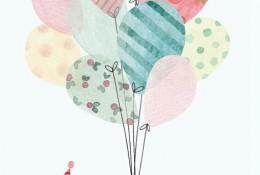 美丽的色彩 童话般治愈系唯美插画图片
