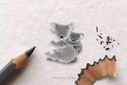 水彩和彩铅画出的袖珍画,你能想象它有多小?
