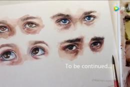 水彩眼睛的画法 不同角度的眼睛水彩画图片