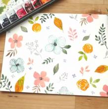 零基础水彩入门:画满一整页好看的花卉原来如此简单!