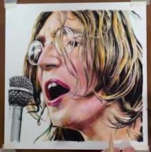 约翰列侬彩铅手绘教程 听着披头士画约翰列侬的感觉超好