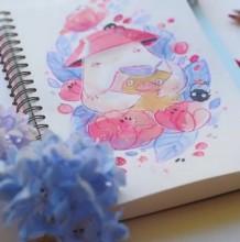 千与千寻萝卜仙超萌系水彩手绘 过程太治愈了