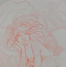 美人鱼手稿教程 一笔一划教你画美丽的美人鱼