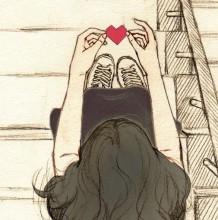 学生时代的唯美爱情 二次元情侣插画 这波狗粮毒的很